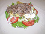 caesar salad with minced beef m