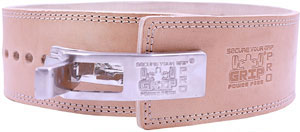 lever buckle leather belt