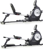 proform dual trainer bike rower m