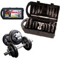 cap barbell 40 pound dumbbell set 1m