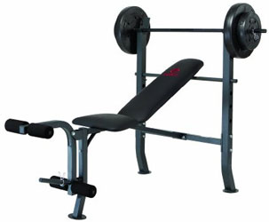 marcy diamond bench and weight set 80 Pound 1